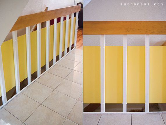 Stylishly babyproofing your staircase and railings | TheMombot.com