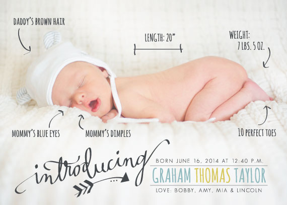 Birth announcement | TheMombot.com