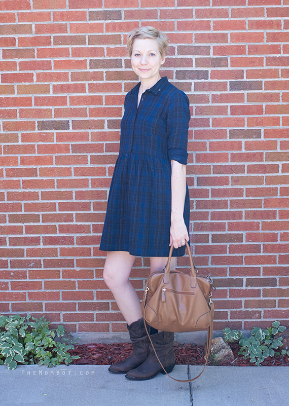 Plaid dress for fall | Themombot.com