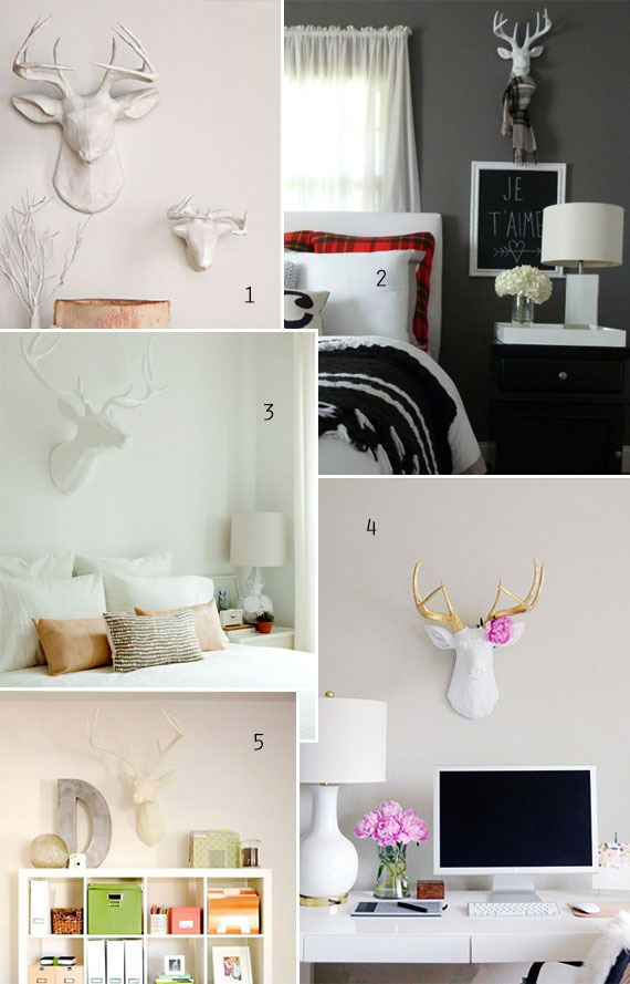 home trend: faux deer head, antlers, taxidermy | TheMombot.com