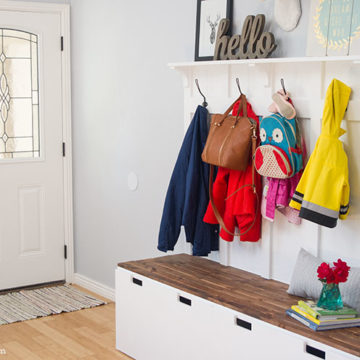 Ikea Hack: DIY Mudroom Benches