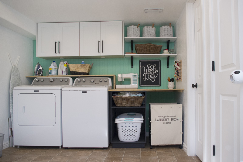Diy Stenciled Concrete Floors Laundry Room Update Part 1 The Mombot